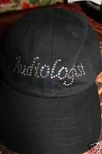 Audiologist Cap in Swarovski crystals BLACK cursive