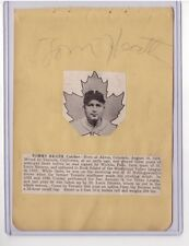 TOMMY HEATH SIGNED BASEBALL AUTOGRAPH ALBUM PAGE D.1967 1935-38 ST LOUIS BROWNS