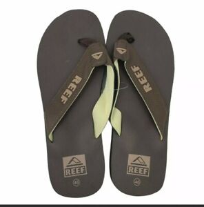 Reef Sandals Men's Size 46 Brown Thong Flip Flop Beach Casual Surfer Slippers