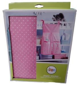Circo Pink Dots & Stripes Diaper Stacker **NEW**