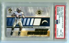 2001 Pacific Private Stock Drew Brees Game Worn Jersey RC PSA 8 NM-MT