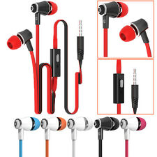 3.5mm In-Ear Stereo Earbuds Earphone Headphone With Mic For iPhone Samsung Sony