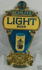 """SCHLITZ Brewing Co Milwaukee Light Beer Special LAGER 21""""x11"""" 3D Can Sign 1975"""