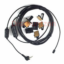 2.5mm/3.5mm Car Gain antenna Cable with Adhesive tape wire clips + ferrite core