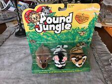 Galoob Pound JUNGLE ZEBRA, TIGER AND RHINOCEROS   New in Box!! Pound Puppies