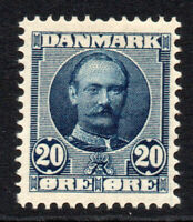 Denmark 20 Ore Stamp c1907-12 Mounted Mint (2295)