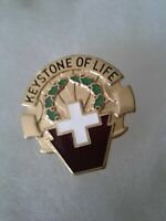 Authentic US Army 316th Station Hospital Unit DI DUI Crest Insignia 22M