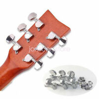 Tuner Machine Heads Silver Tuning Pegs 3L3R for Folk Acoustic Electric Guitar