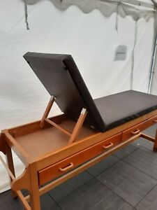 Adjustable medical/treatment/examination couch/bench/bed with drawers