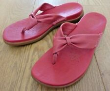 e3e9ecba7d2 Clarks Active Air Ladies Floral Pattern Slip on Red Leather Sandals Size UK  7