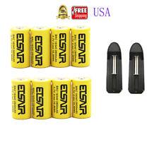 8pcs 16340 CR123A 3.7V 2800mAh Rechargeable Li-Ion Battery Batteries 2X charger
