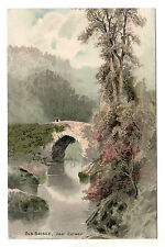 Old Bridge - Near Corwen Meissner & Buch Art Postcard c1905