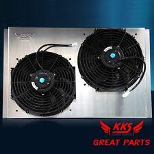 """KKS Radiator Shroud 2x12"""" Fans 61-64 Ford F100 F250 F350 Pickup Truck"""