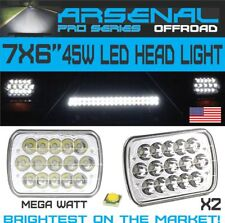 "Pair LED 6"" X 7"" LED Headlight Replacement Lamp DRL for Jeep Cherokee XJ Trucks"
