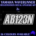 Marine registration rego numbers decal stickers for YAMAHA WAVERUNNER,JETSKI,PWC