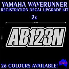 YAMAHA WAVERUNNER,JETSKI,P.W.C marine registration rego numbers decals stickers
