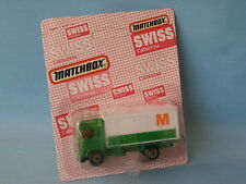 Matchbox Volvo Container Truck M Migros Toy Model Delivery Truck Swiss BP 75mm