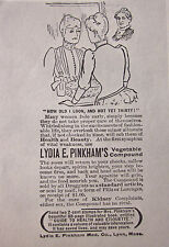 LYDIA PINKHAM feminism 1890 womens cramps advertisement AD vegetable compound