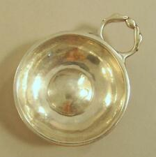 Real 18th c. French Silver Wine Taster c. 1788 Lyon Benoit JULIEN Spanish Coin