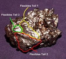Meteorit Campo del Cielo mit flexiblem Teil, Heilstein, 48x29x27mm 109,9g