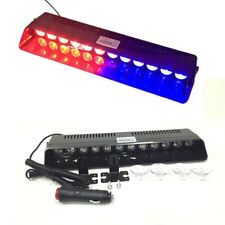 Car Emergency Strobe Light Bar Bright 12-LED Warning Lights Dash Lamp Red+Blue