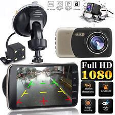 "4"" LCD IPS Dual Lens Car Dash Cam FHD 1080P Dashboard Camera 170° Driving DVR UK"