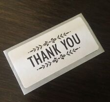 THANK YOU! STICKERS ENVELOPE/PACKAGE SEALS LABELS Classic Professional