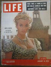 LIFE Jan 16 1956 G Kelly, A Ekberg, B Russell, W Hartack, H Hayes '56 Studebaker