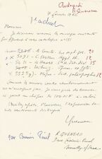 Raymond QUENEAU / Lettre autographe signée + bordereau signé. 2 documents