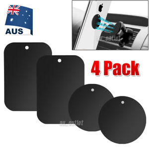 4X Metal Plate Magnetic Car Phone Holder Accessories Magnet Phone Stand Support