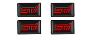 SUBARU STI Technica International Badge STICKER 3D LOGO WRX STYLING (x4)