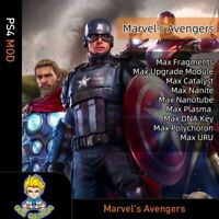 Marvel's Avengers (PS4 Mode)- Max Fragments/Upgrade Module/Rear Rare/Exotic