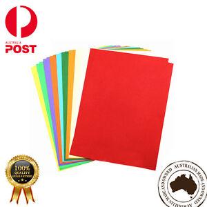 100 x Colored Card Cardboard Paper A3 A4 A2 DIY Craft Handicraft- Premium Qlty
