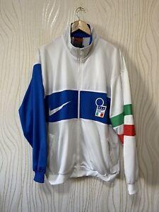 ITALY 1996 1997 PRESENTATION FOOTBALL SOCCER JACKET TRACK TOP NIKE sz XL