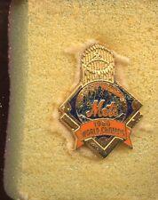 1986 New York Mets World Series Press Pin MINT