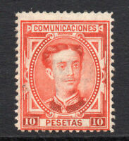 Spain 10 Pesetas Stamp c1876 Mounted Mint Hinged (faults) (3579)