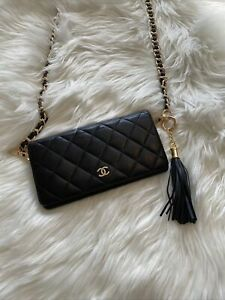 Authentic!! Chanel Matelasse Wallet with chain
