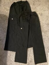 New Black Scrubs, Two Pairs Pants, Size Small, Uniform Advantage Butter-Soft