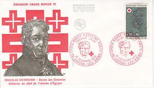 Enveloppe 1er jour 1972 - Croix Rouge Médecin de Napoléon