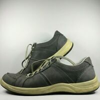 Mephisto Runoff Men's Size 8.5 Dark Gray Leather Boat Shoes Lace-Up 24461313990