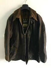 Mens Barbour Beaufort wax jacket Brown coat 42in size Medium / Large M/L #2