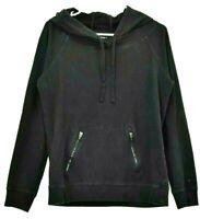 Gap Body Women's Medium Cotton/Spandex Blend Long Sleeve Hoodie w/ Pockets Black