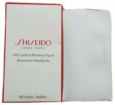 Authentic Japanese Shiseido 100 Oil Blotting Papers in New Design Red Box, New