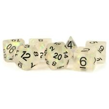 Dice and Gaming Accessories 7-Set: Icy Opal CLbk