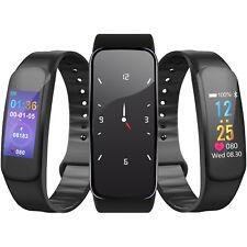 Smart Wristwatch Watch Bracelet HeartRate Monitor BP FitnessTracker Color Screen