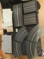 Scalextric Vintage Triang Track- 2xHalf Straights, 4xcurves, 1x curved bridge
