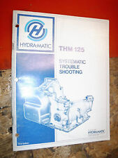 UP TO 1980 CHEVY GM HYDRA MATIC THM 125 TRANSMISSION TROUBLESHOOTING MANUAL