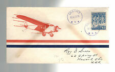 1938 Cieszyn Poland First DAy Cover to USA FDC # 338