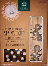 Order Home STRING LIGHTS. 40 WARM WHITE LIGHTS. 10 FT LONG. BATTERY OPERATED.