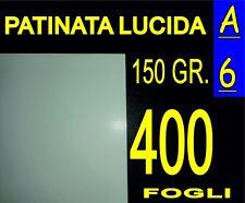 400 FF A6 CARTA PATINATA LUCIDA STAMPANTI LASER X  pieghevoli 150 GR